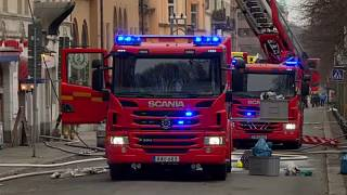 Firefighters intervene at the Portuguese embassy in Stockholm