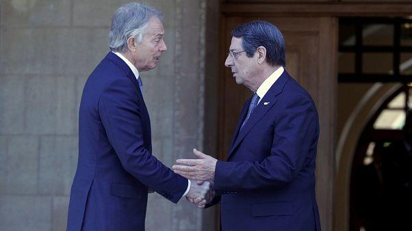 Κύπρος: Συνάντηση Αναστασιάδη - Μπλαιρ