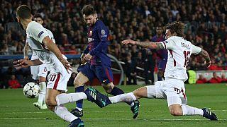 El Barcelona gana a la Roma (4-1), el Liverpool rompe al Manchester City (3-0)