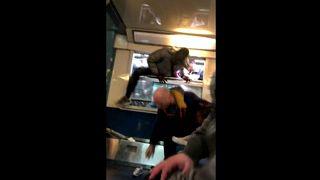 Paris passengers climb through train windows on first day of French rail strike