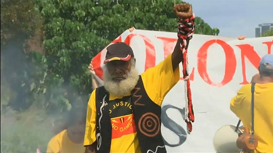 Indigenous protests at Commonwealth Games
