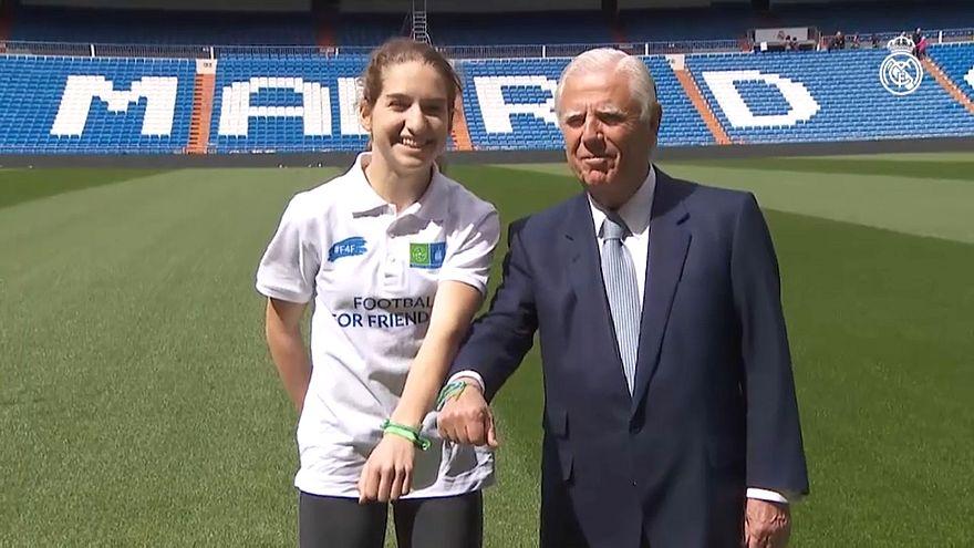 Real Madrid's Enrique Sanchez and F4F ambassador