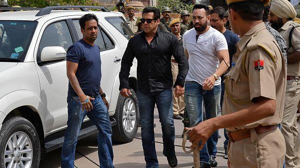 Salman Khan, star de Bollywood, au tribunal.
