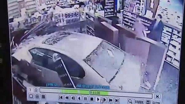 В аптеку прямо на машине
