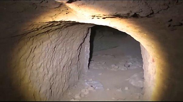 نفق تحت تلة النبي يونس في الموصل