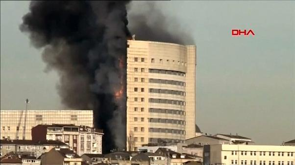 حريق في مستشفى غازي عثمان في إسطنبول