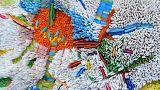 Ilhwa Kim uses rolled up paper to create vivid art