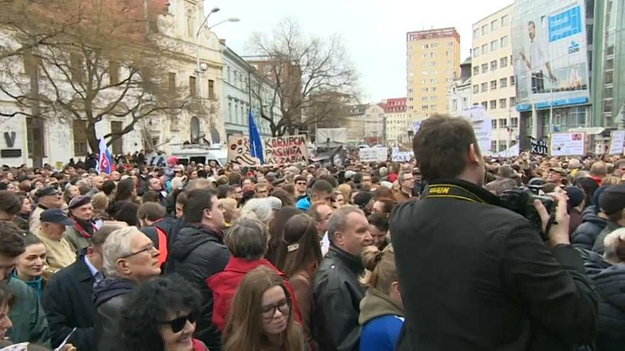 Новые протесты в Словакии