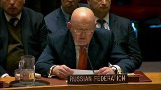 Vassily Nebenzia, the Russian ambassador to the UN