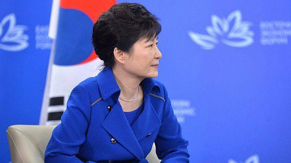 پارک گونهه، رئیس جمهوری سابق کره جنوبی در کنفرانس اقتصاد شرق در روسیه