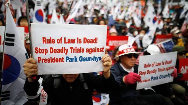 Demonstrations in support of Park Geun-hye