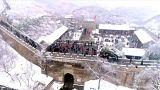 الثلج فوق سور الصين العظيم