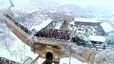 La muraille de Chine sous la neige
