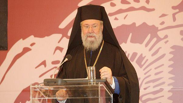 Ο Αρχιεπίσκοπος Κύπρου Χρυσόστομος