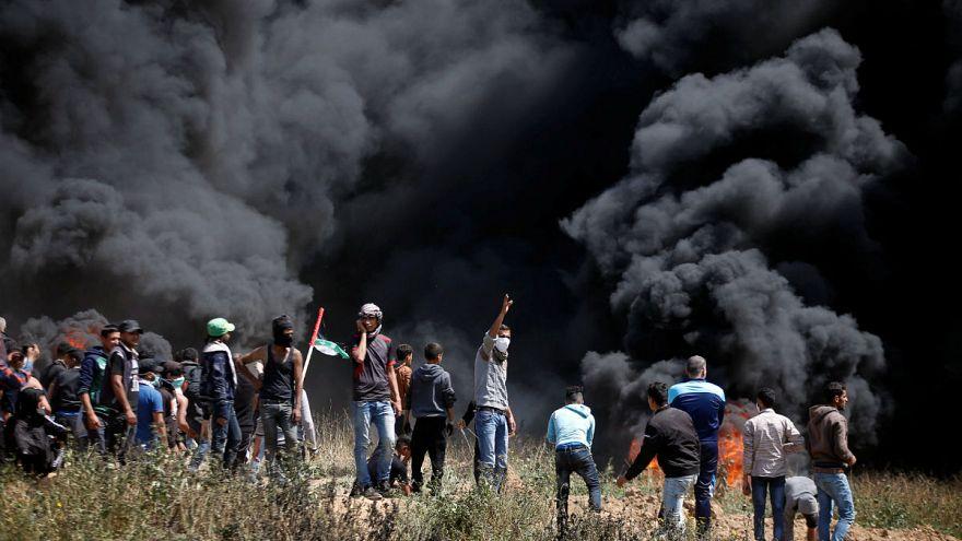 İsrail askerlerinden Gazze'deki göstericilere ateş