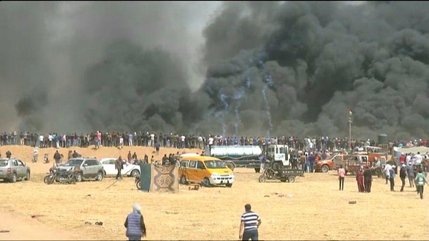 Столкновения на границе Израиля с сектором Газа