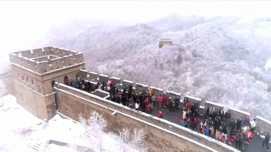 O inverno chegou à Muralha da China