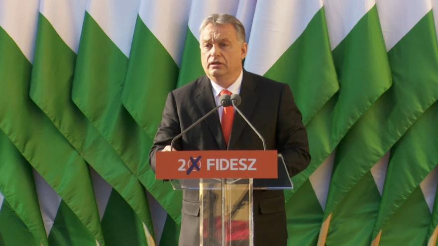 Hungarian nationalist Prime Minister Orban on track for third straight term