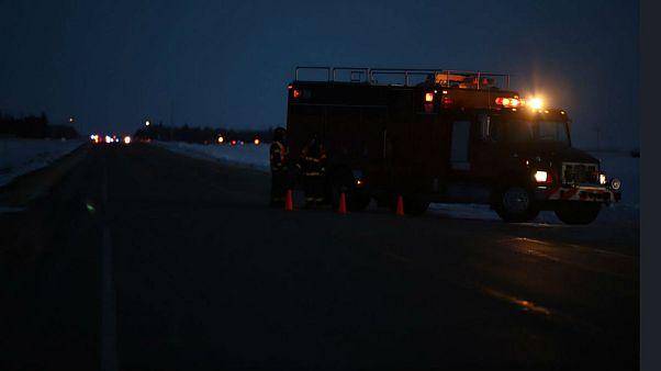 دست کم ۱۴ ورزشکار جوان در تصادف رانندگی در کانادا جان باختند