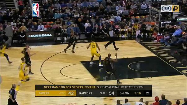 The Raptors overcame Indiana