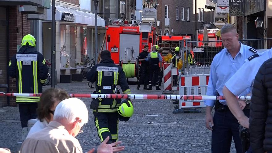 Three dead and 20 injured as van driven into crowd in Muenster, Germany