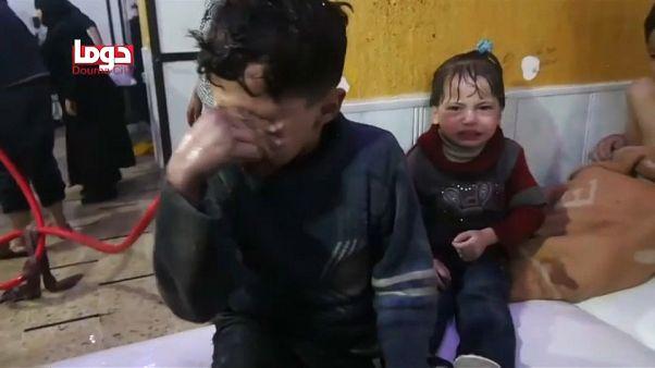 Al menos 40 muertos en un posible ataque químico en Guta Oriental