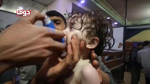 At least 70 dead in suspected gas attack in Syria