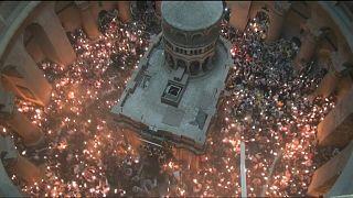 جشن آتش مقدس در بیتلحم