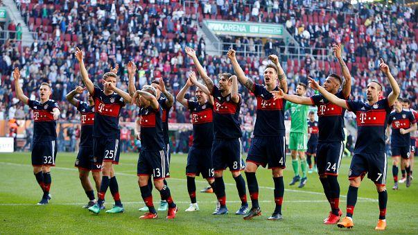 بايرن ميونيخ حقق لقبه السادس في دوري الدرجة الاولي الالماني قبل النهاية