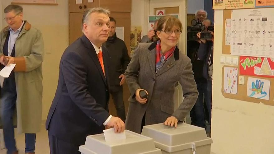 Orban casts vote as millions of Hungarians head to the polls