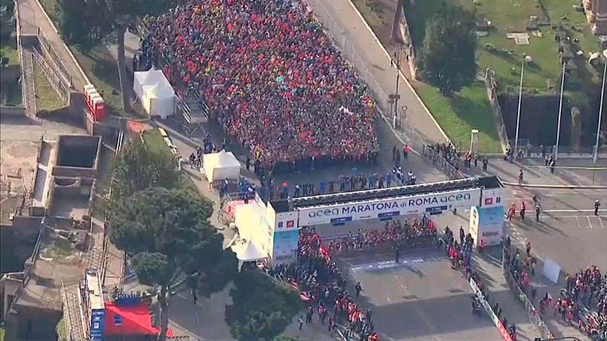 Maratona di Roma, trionfano il keniano Birech e l'etiope Tusa