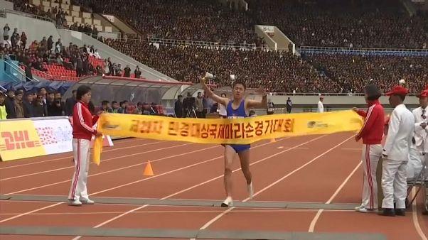Apoteosis local en el maratón de Corea del Norte
