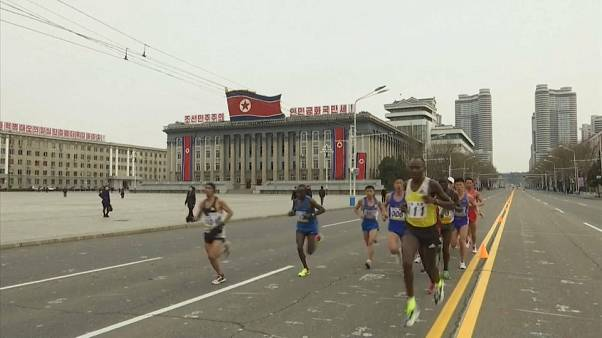 Fewer foreigners take part in the North Korean marathon this year