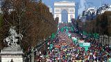 Paris Maratonu'nda yine Kenyalı Lonyangata birinci