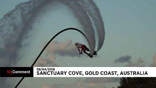 """""""Poseidon Games"""": Akrobatische Sprünge auf Wassersäulen"""