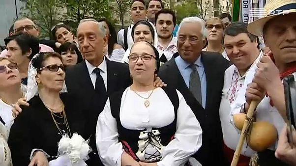 Marcelo e Costa lembram soldados caídos em La Lys