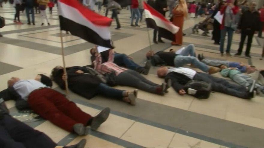 مظاهرات بباريس ضد زيارة ولي العهد السعودي إلى فرنسا