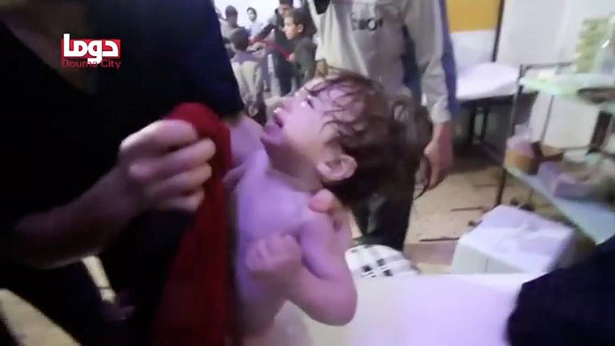 Many children are among those hurt in the attack