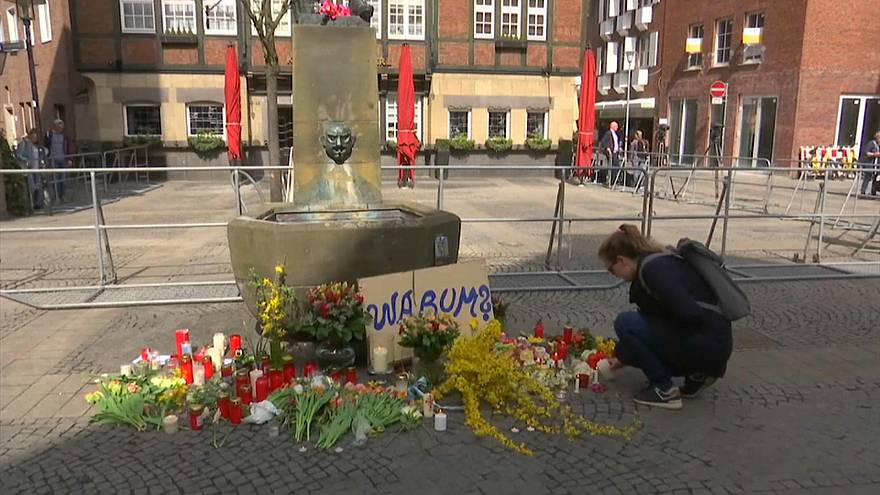 People have been laying flowers in the square where the attack took place
