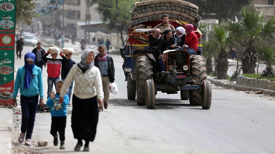 HRW: Afrin'den çıkış ve insani yardıma erişim engelleniyor