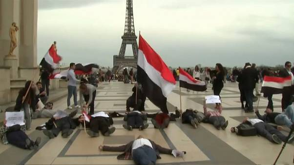 Protesta contra Arabia Saudí en París