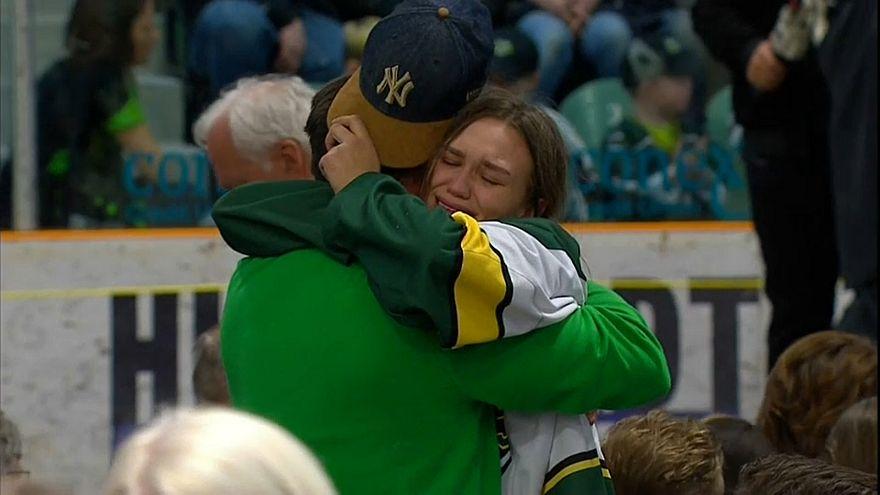 Канада прощается с погибшими хоккеистами