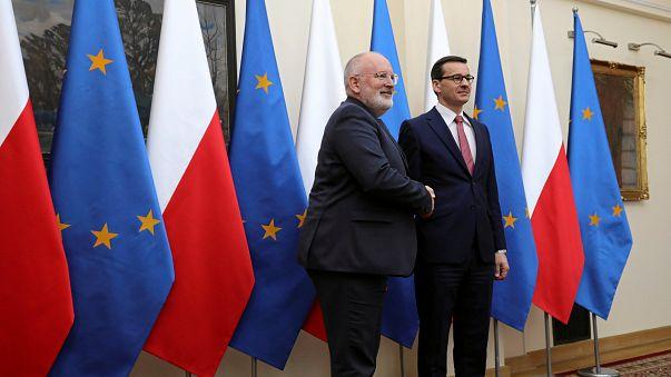 Frans Timmermans et Mateusz Morawiecki