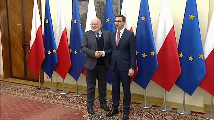 EU's Timmermans arrives in Warsaw to talk rule of law
