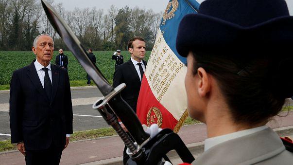Marcelo e Macron lembram batalha de La Lys