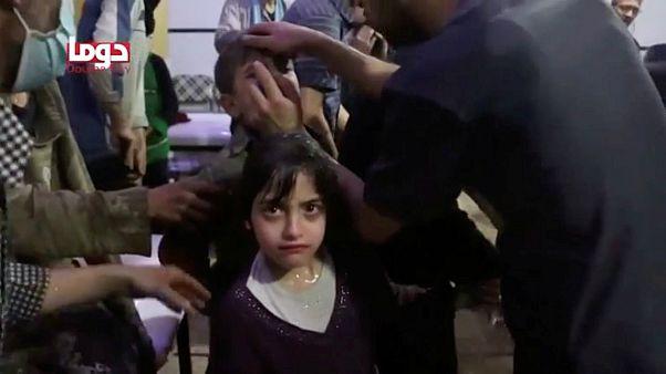 قربانیان حمله به دوما در سوریه