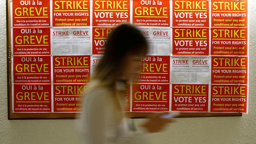 A franciák a sztrájk bajnokai