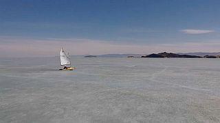 Im Geschwindkeitsrausch: Eissegler auf dem Baikalsee