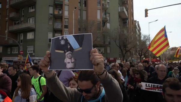 Protestas contra la visita del rey Felipe VI a Barcelona