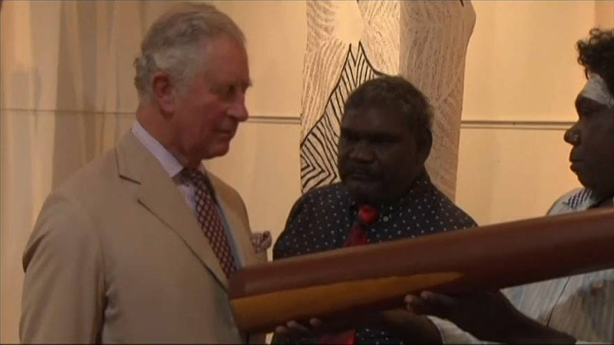 Prince Charles visited an indigenous art center in Australia